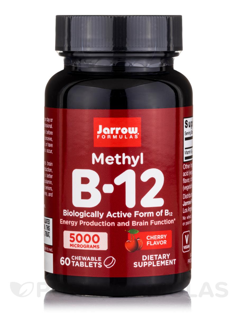 Methyl B-12 5000 mcg, Cherry Flavor - 60 Lozenges