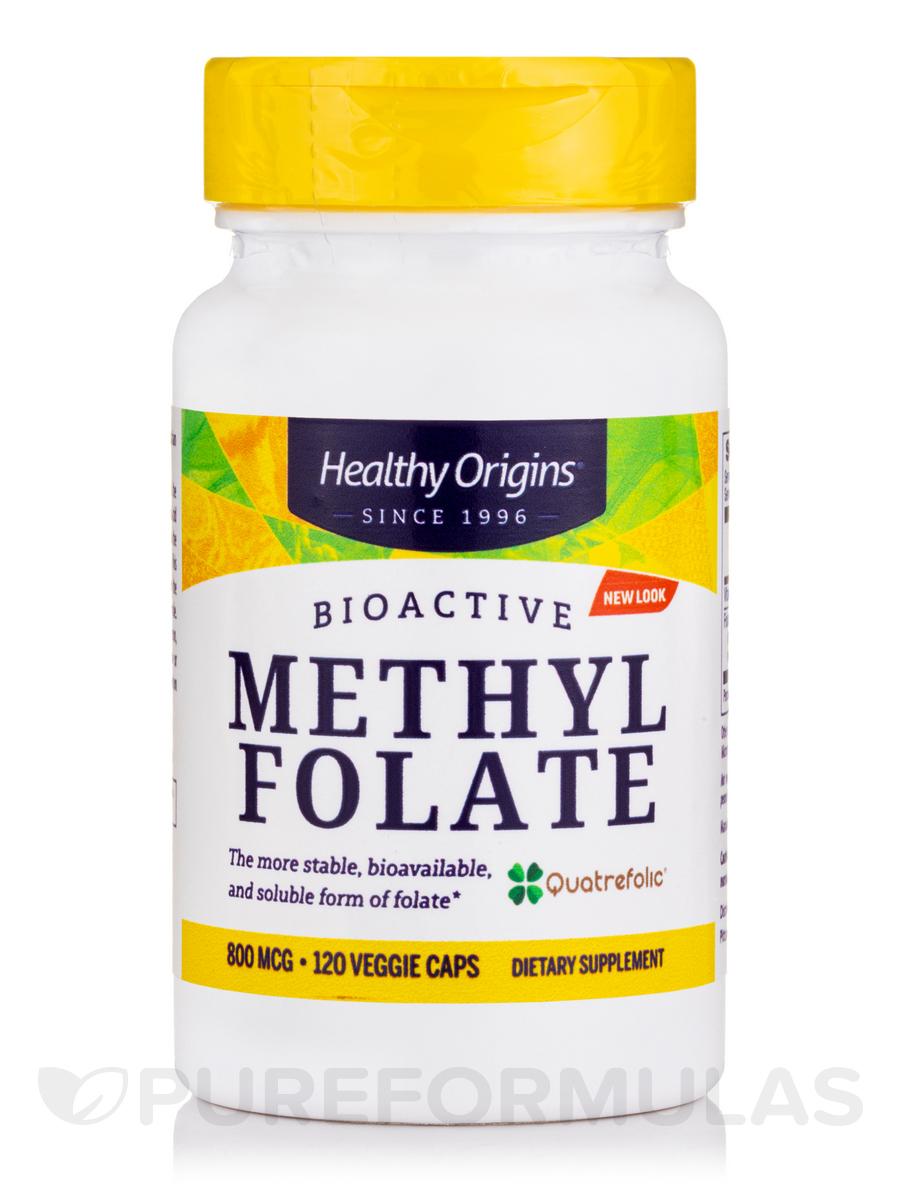 120 Veggie Capsules: Methyl Folate 800 Mcg (Featuring Quatrefolic)