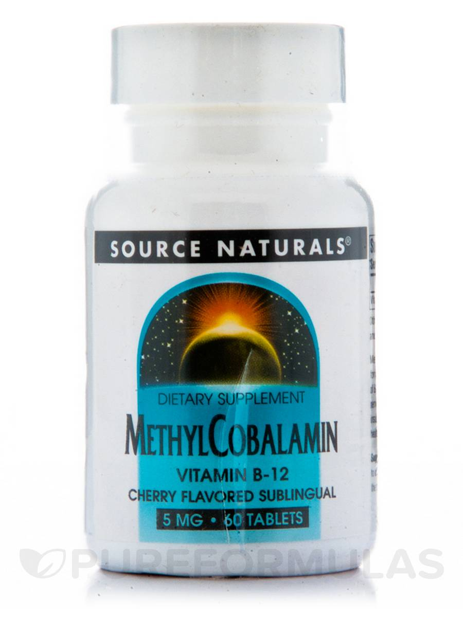 Methylcobalamin 5 mg Cherry Flavored Sublingual - 60 Tablets