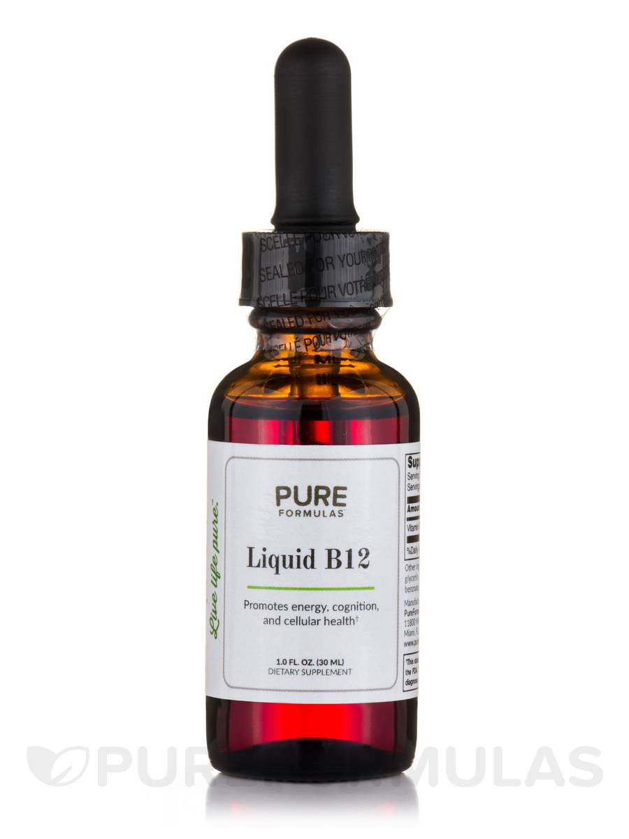 Liquid B12, Natural Cherry Flavor - 1 fl. oz (30 ml)