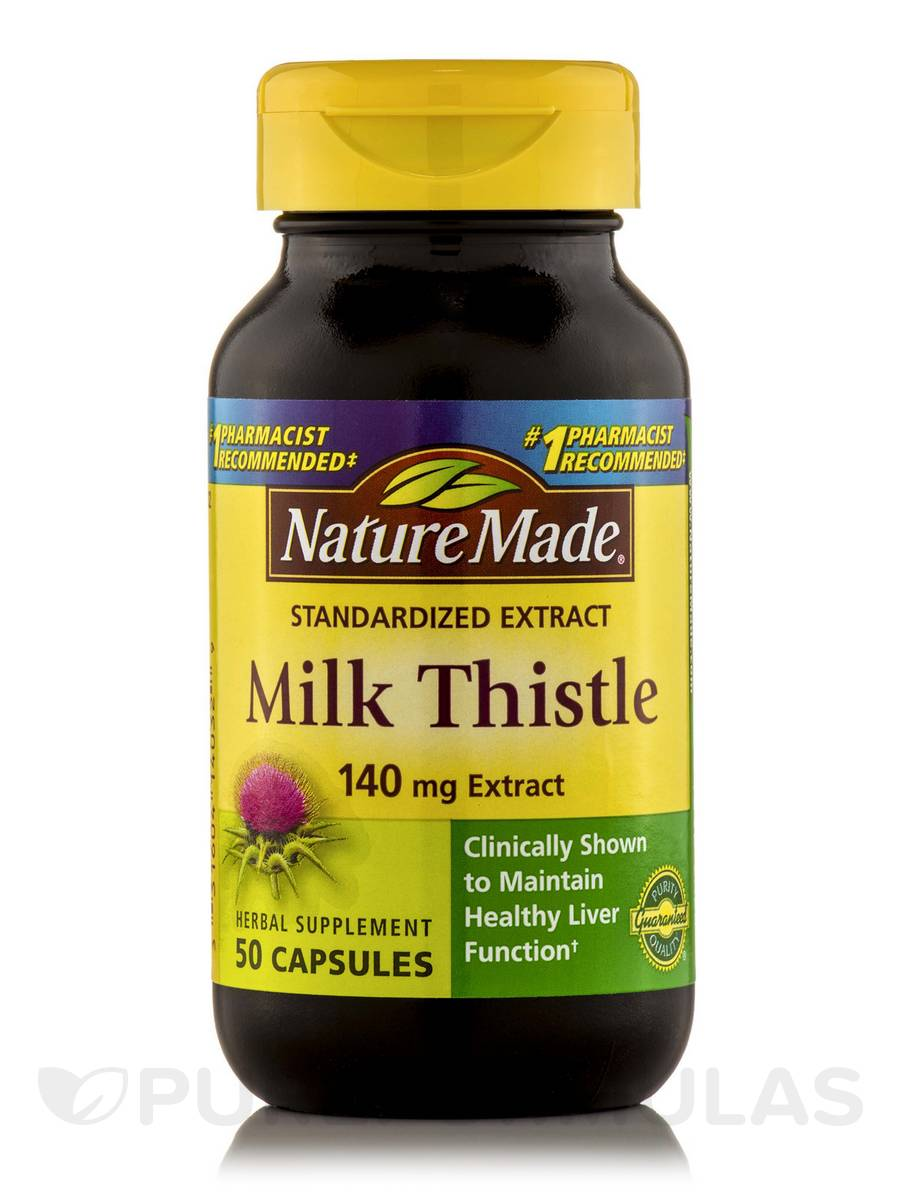 Milk Thistle Extract 140 mg - 50 Capsules