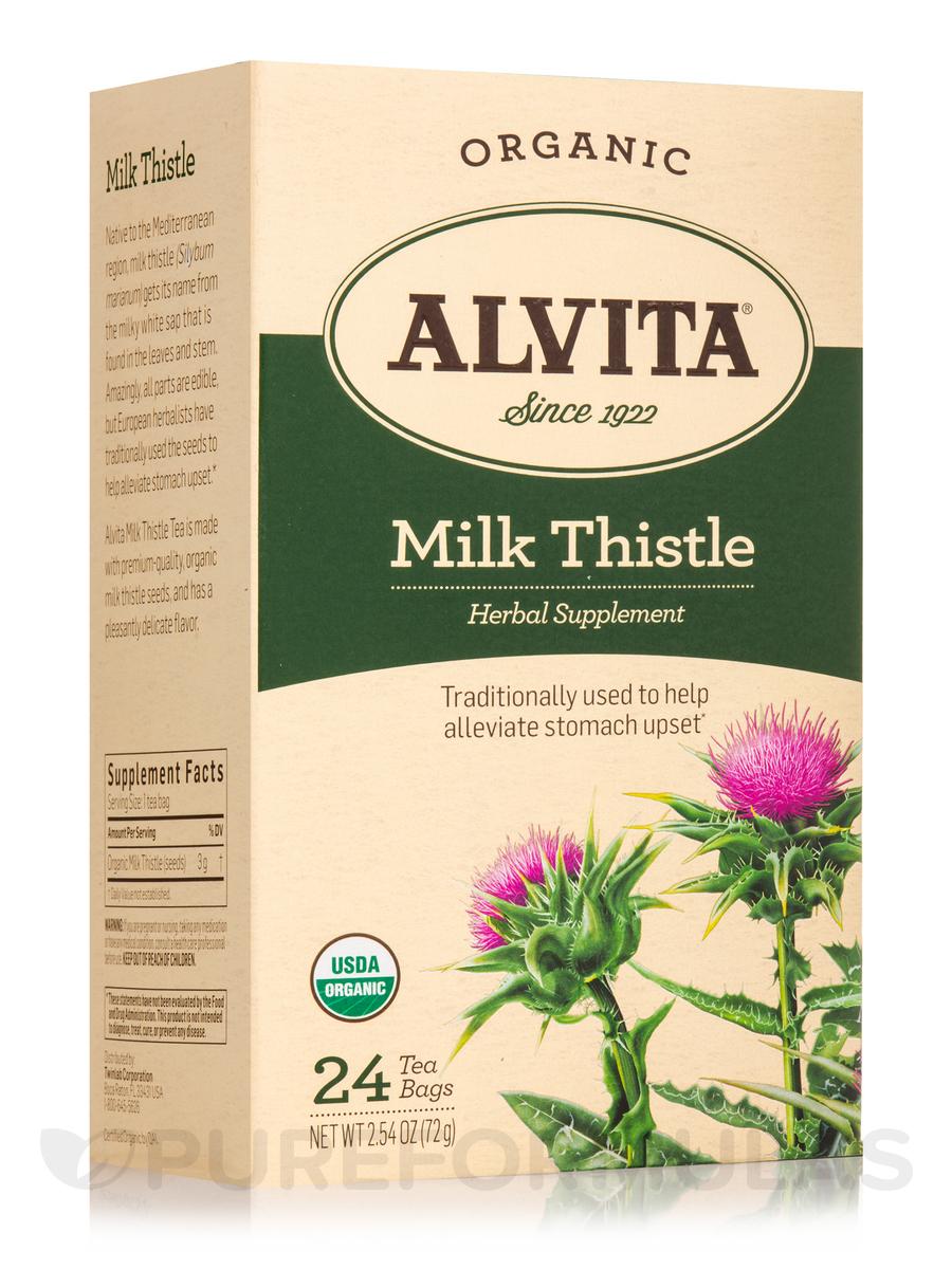 Milk Thistle Herbal Supplement 24 Tea Bags
