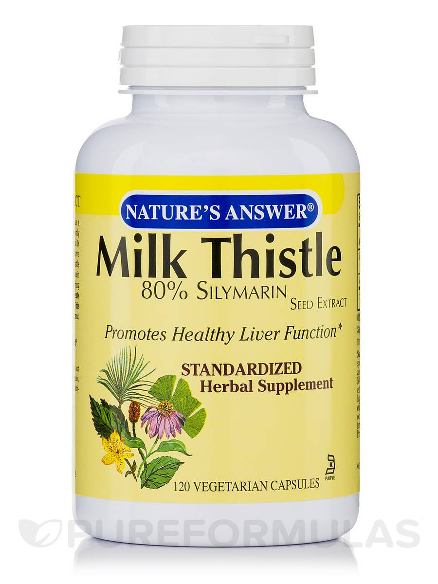 Milk Thistle Seed Standardized - 120 Vegetarian Capsules