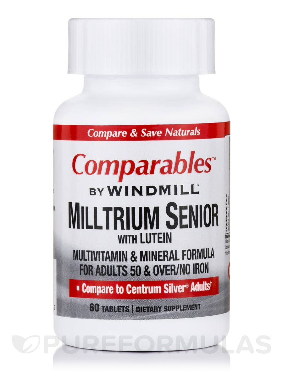 Milltrium Senior with Lutein - 60 Tablets