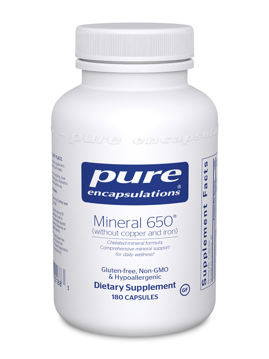 Mineral 650 w/o Copper & Iron - 180 Capsules