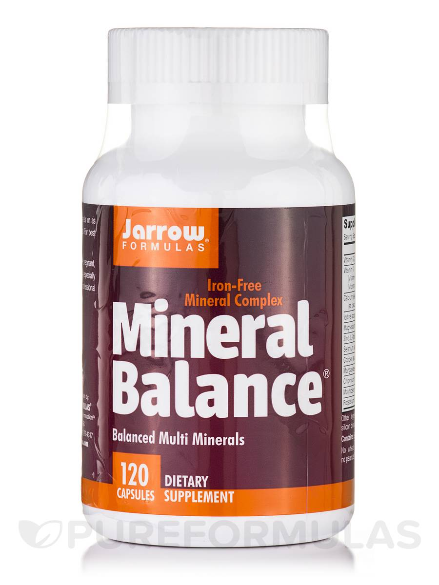 Mineral Balance Iron-Free - 120 Capsules