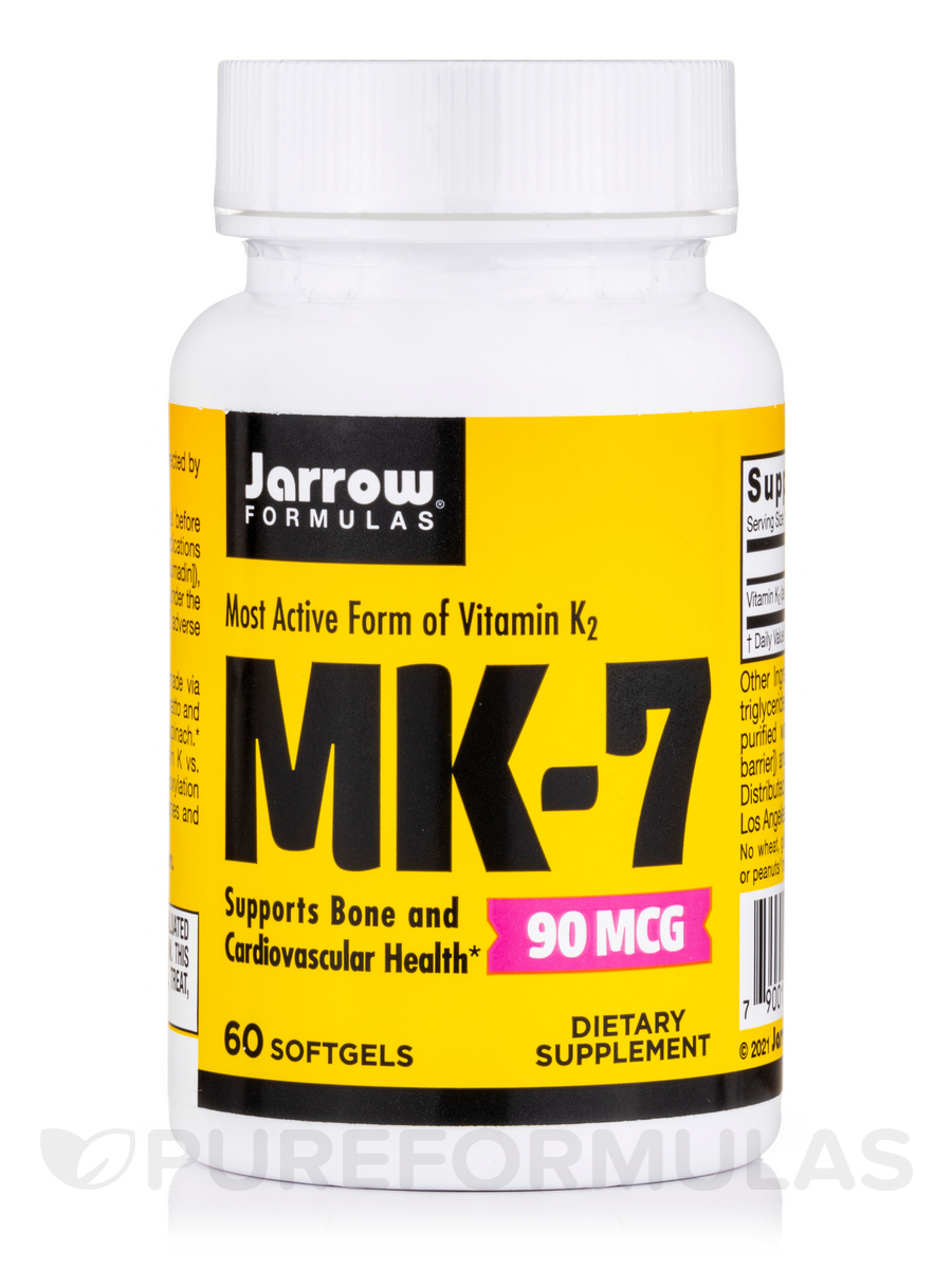 MK-7 (Vitamin K2), 90 mcg - 60 Softgels