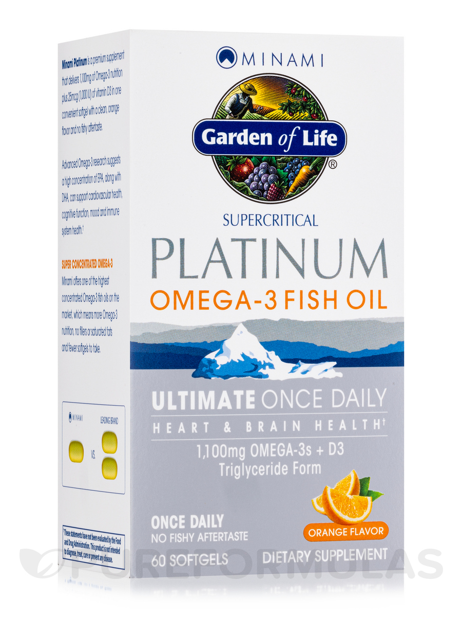 Supercritical Platinum Omega-3 Fish Oil, Orange Flavor - 60 Softgels