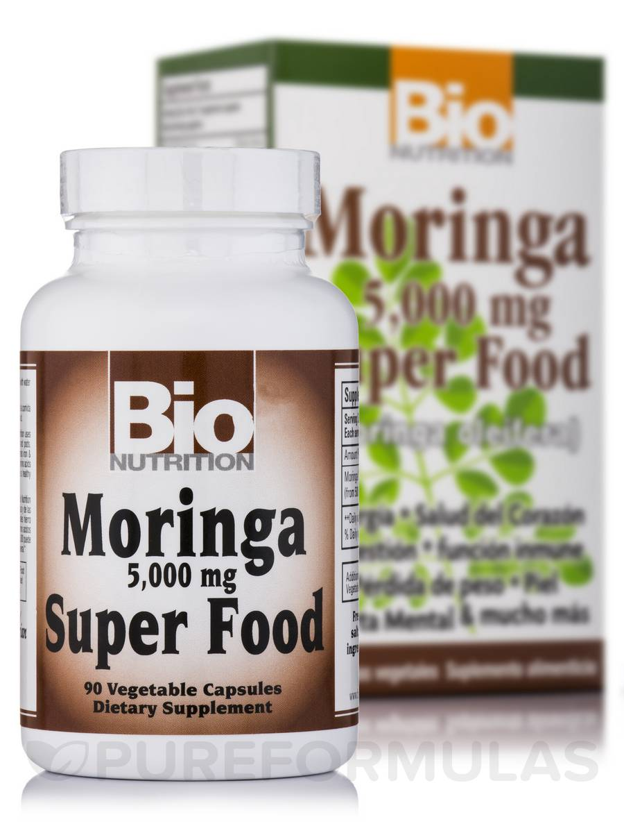 Moringa 5000 mg Super Food - 90 Capsules