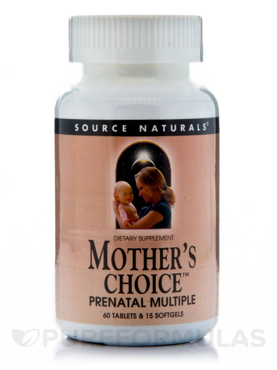 Mother's Choice Prenatal Multiple with Iron - 60 Tablets/15 Softgels