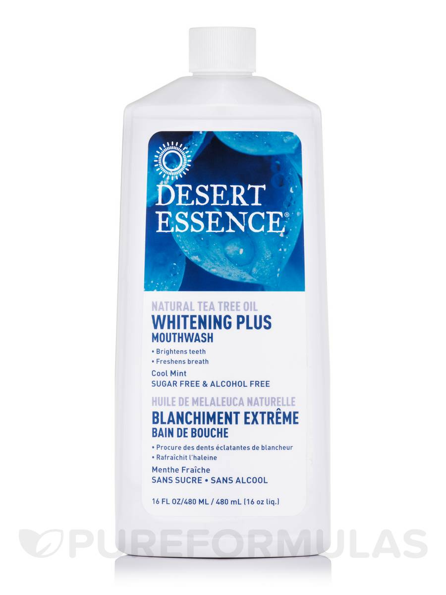 Mouthwash Whitening Plus Tea Tree Oil 16 Fl Oz 480 Ml