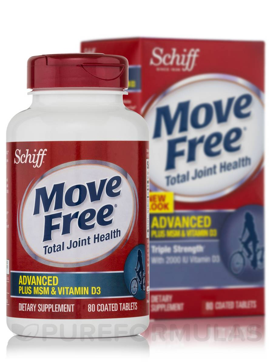 Move Free® Advanced+MSM & Vitamin D - 80 Coated Tablets