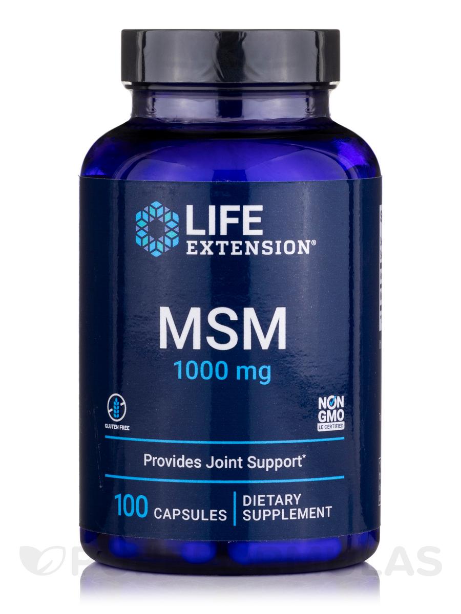 MSM 1000 mg - 100 Capsules