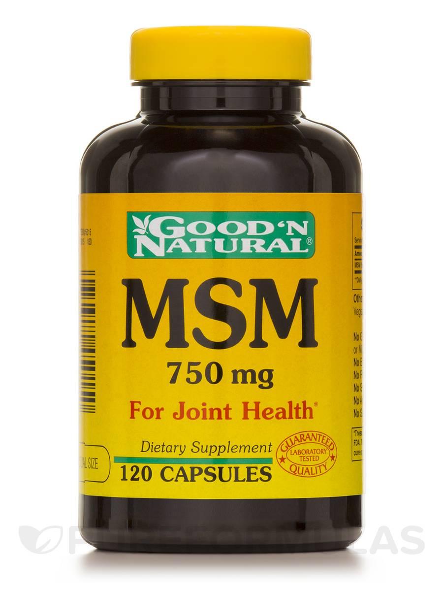 MSM 750 mg - 120 Capsules