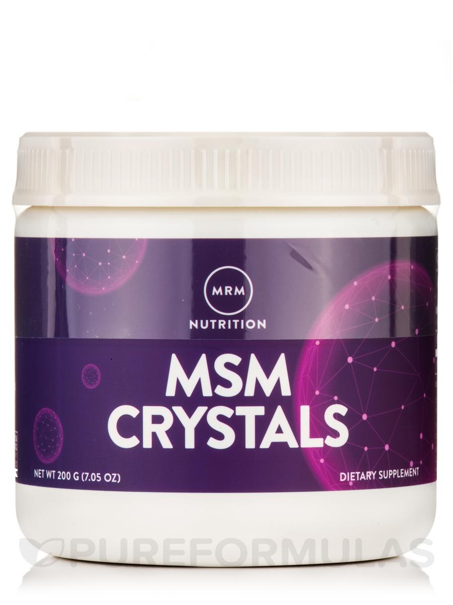 MSM Crystals (methyl-sulfonyl-methane) - 200 Grams