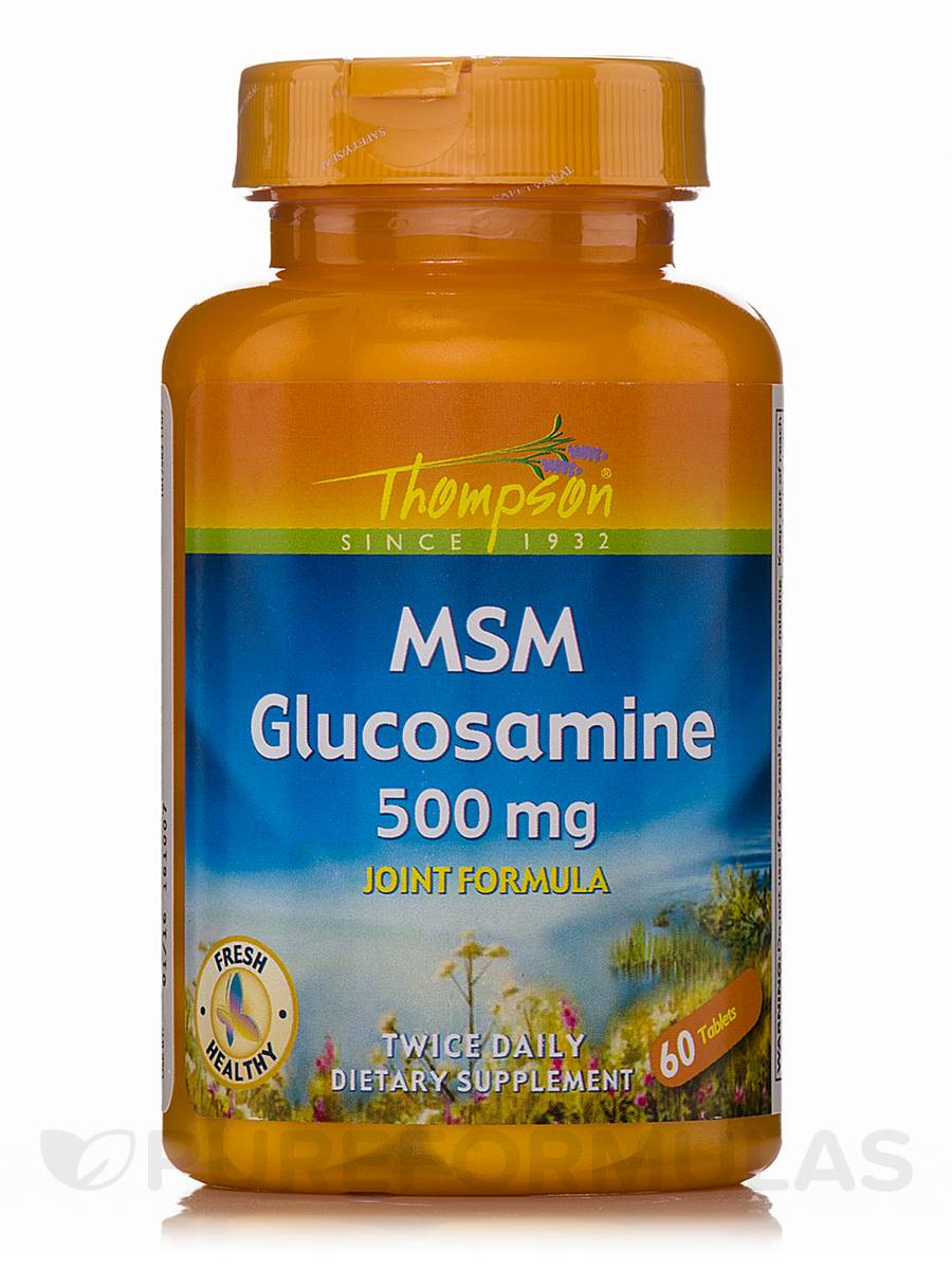 MSM Glucosamine 500 mg - 60 Tablets