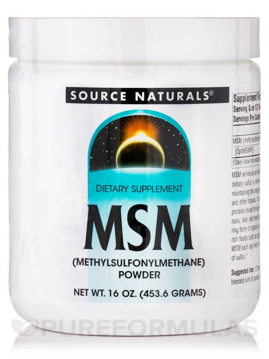 MSM (Methylsulfonylmethane) Powder - 16 oz (453.6 Grams)
