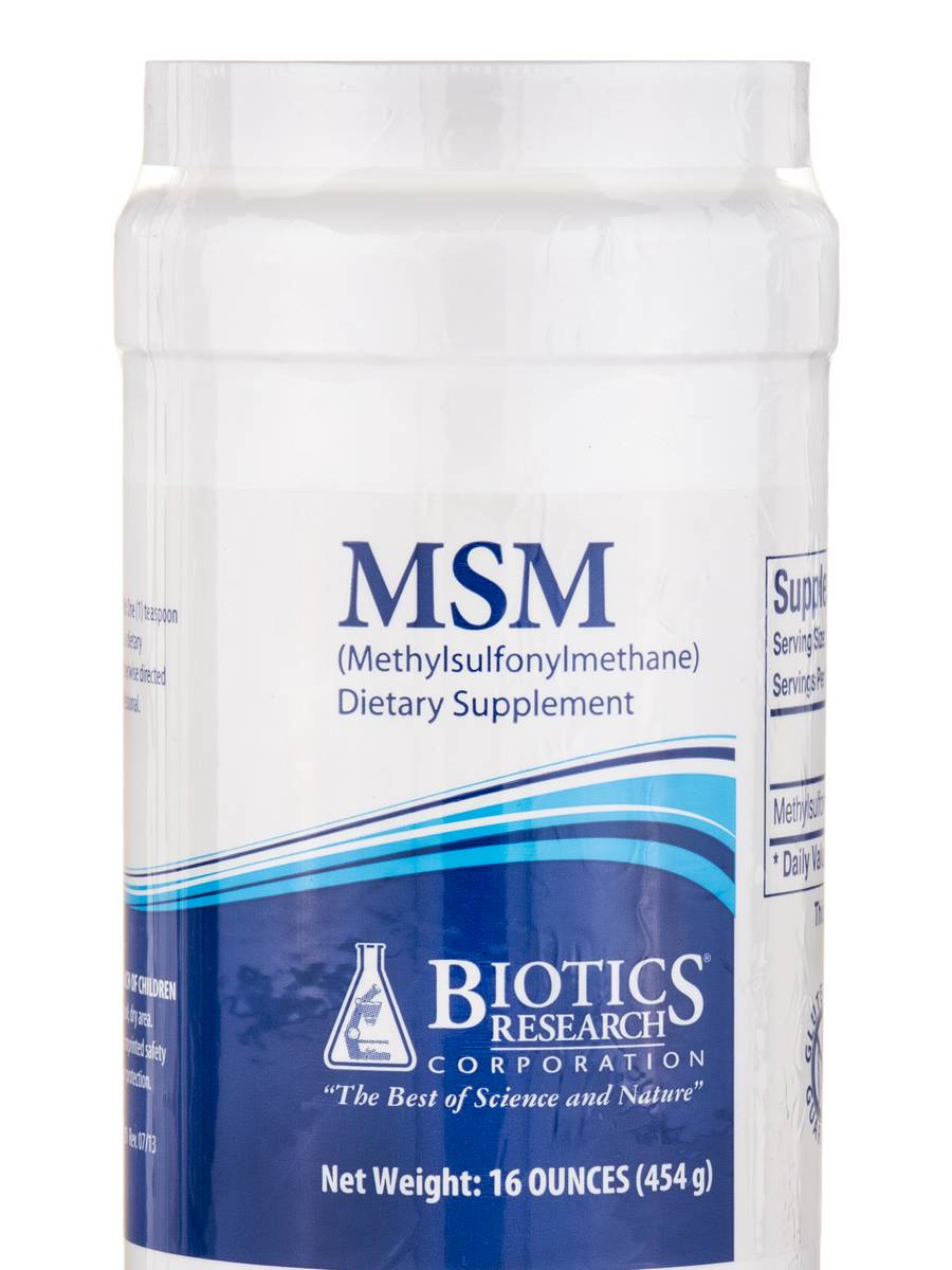 MSM (Methylsulfonylmethane) - 16 oz (454 Grams)
