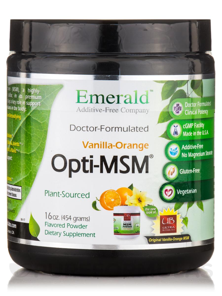 MSM Powder Vanilla Orange - 16 oz (454 Grams)