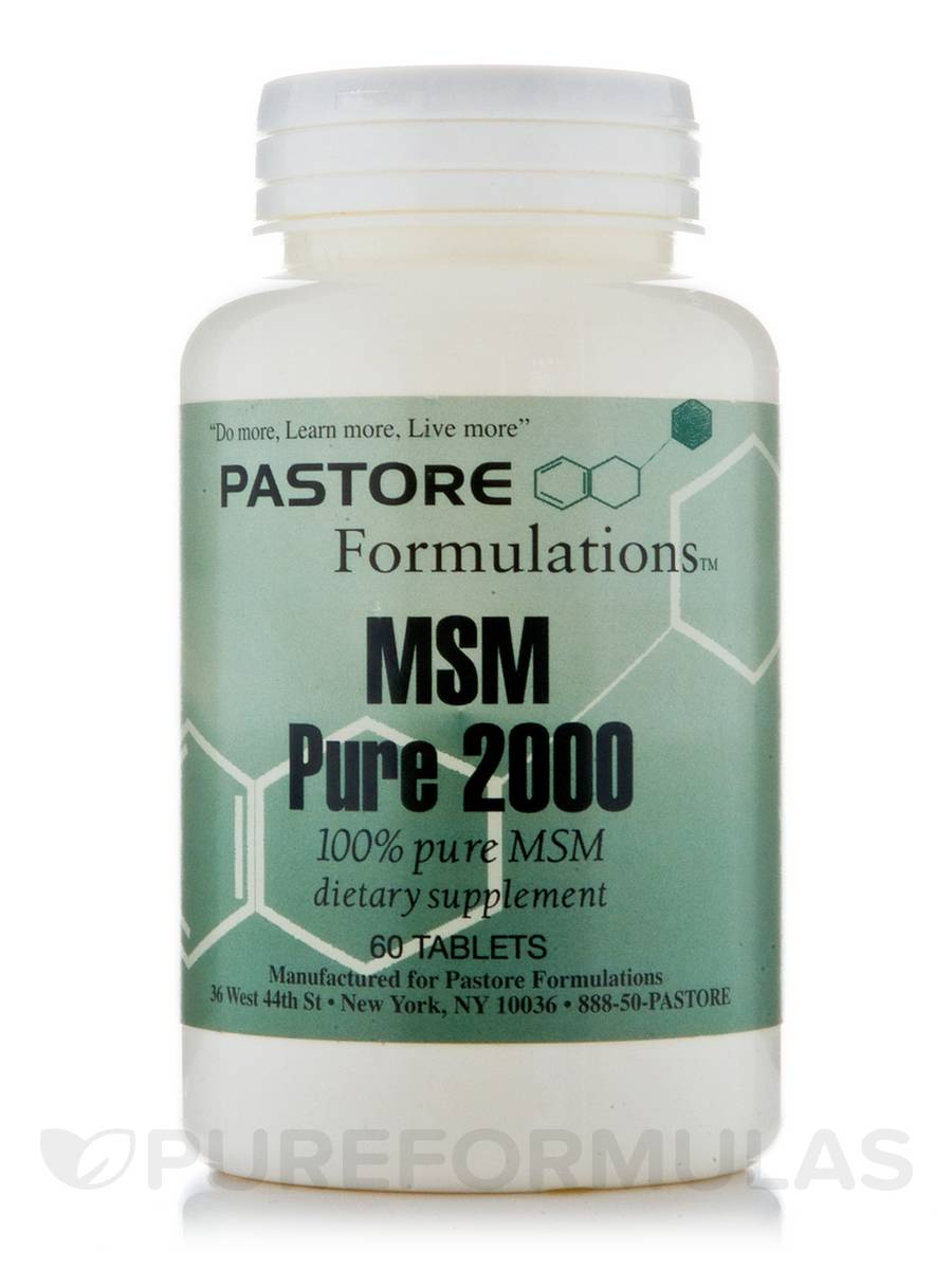 MSM Pure 2000 - 60 Tablets