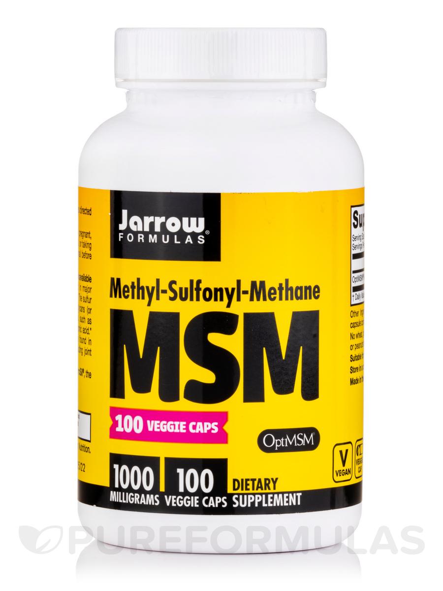 MSM Sulfur 1000 mg - 100 Capsules