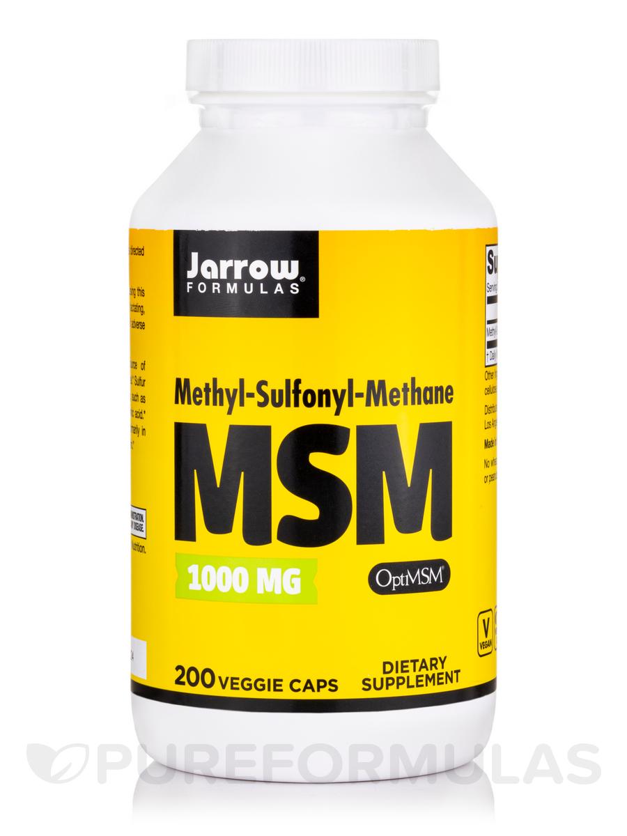 MSM Sulfur 1000 mg - 200 Capsules