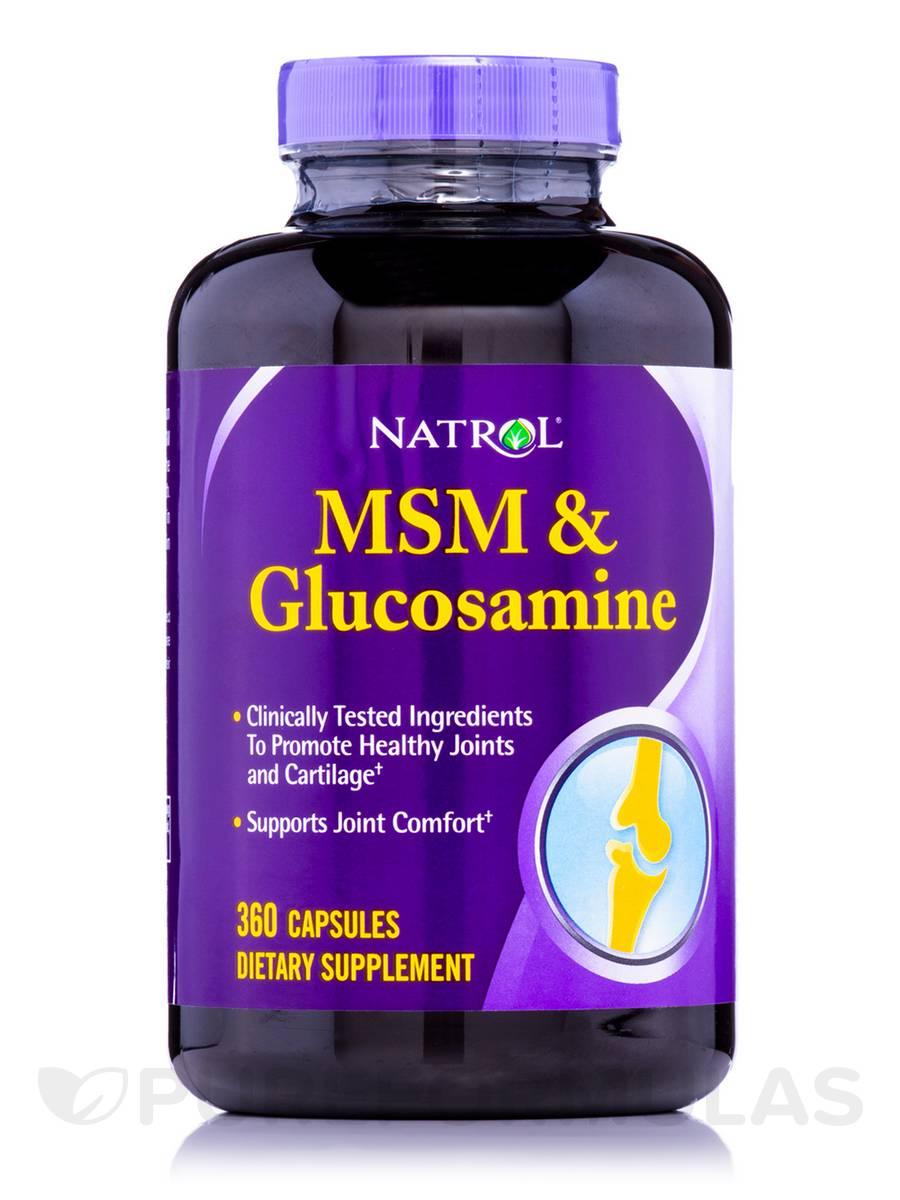 MSM and Glucosamine - 360 Capsules