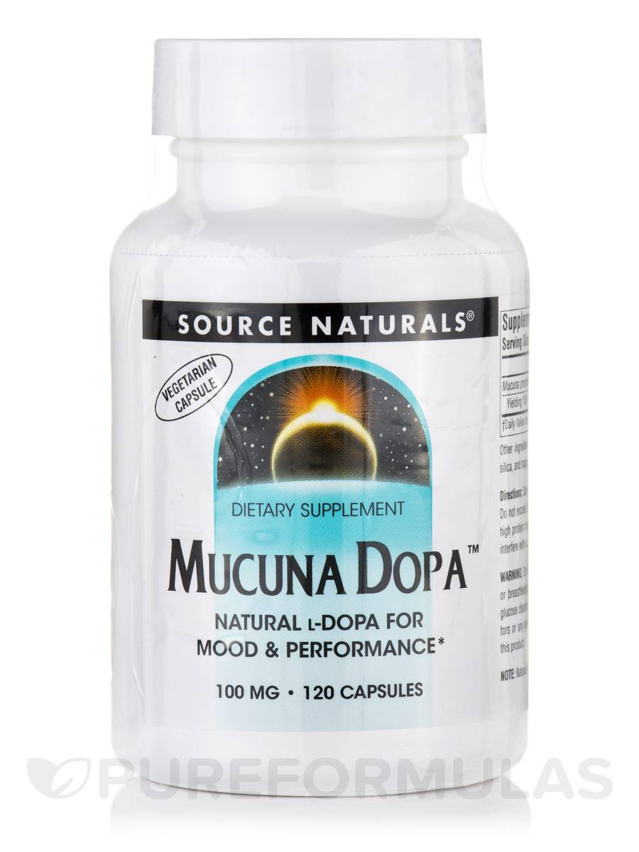 Mucuna Dopa 100 mg - 120 Vegetarian Capsules