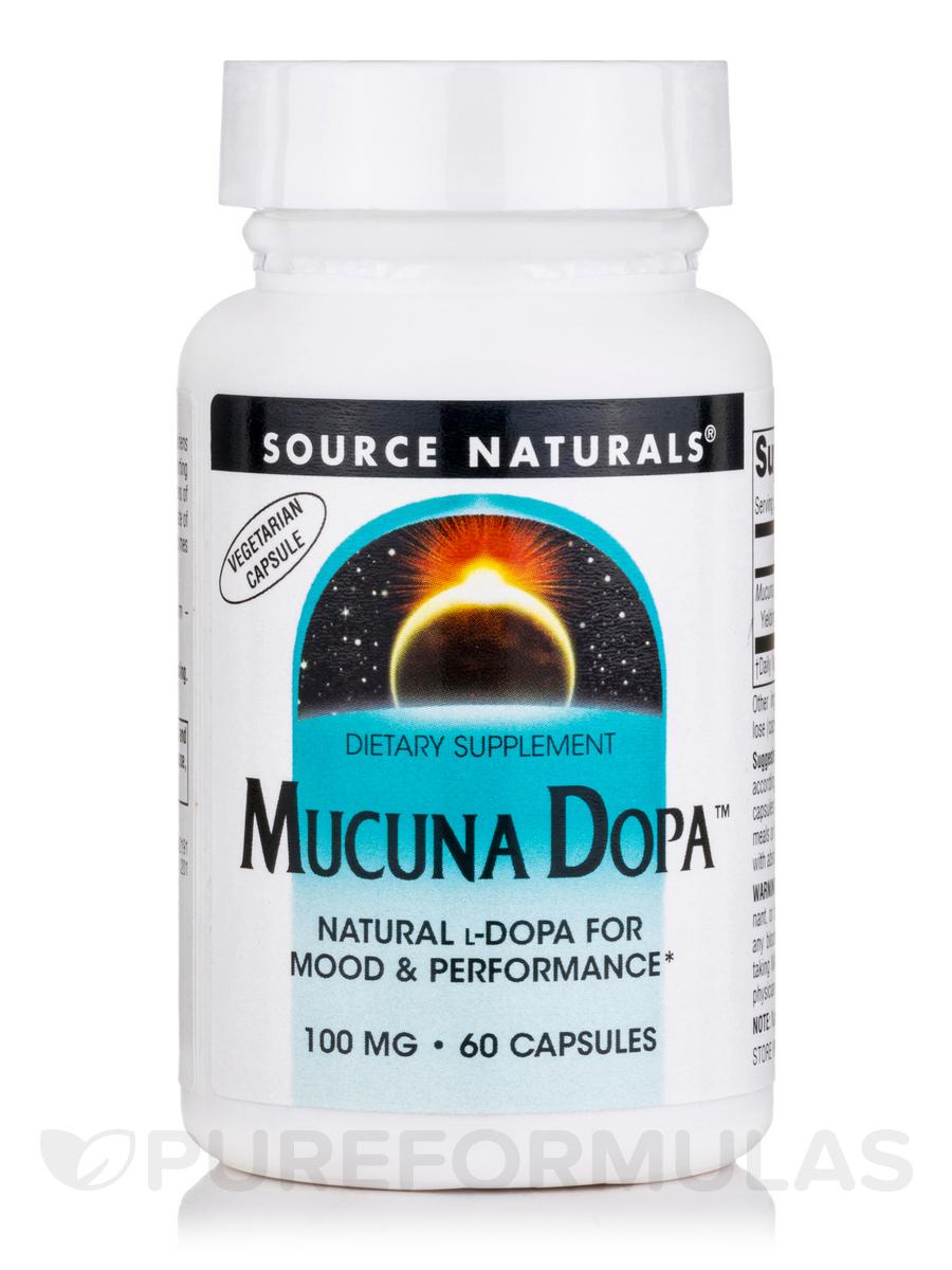 Mucuna Dopa 100 mg - 60 Vegetarian Capsules