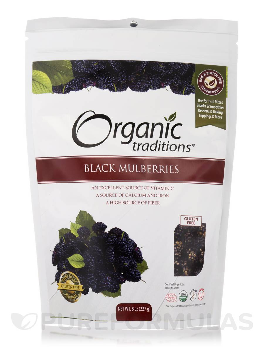 Black Mulberries - 8 oz (227 Grams)