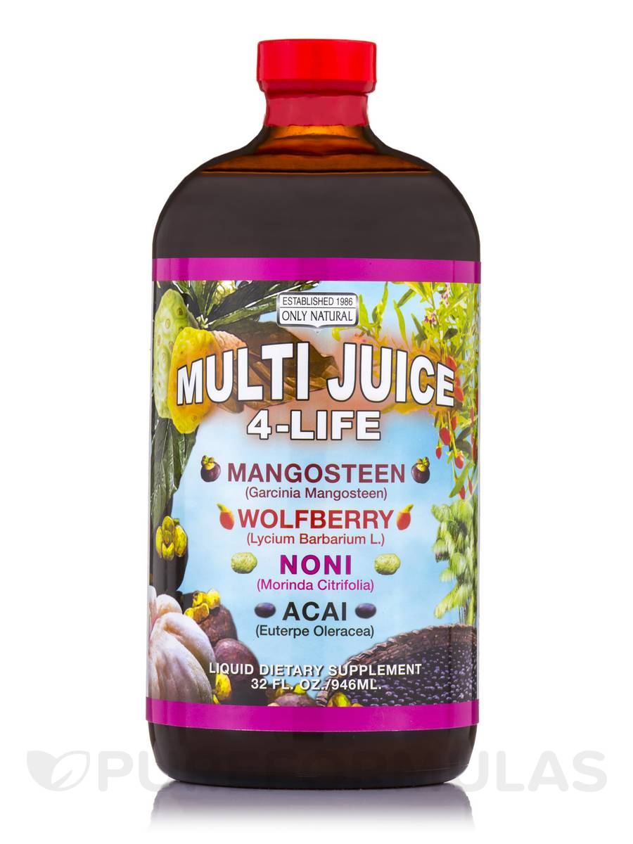 Multi Juice 4 Life (Mangosteen, Wolfberry, Noni & Acai) - 32 fl. oz (946 ml)