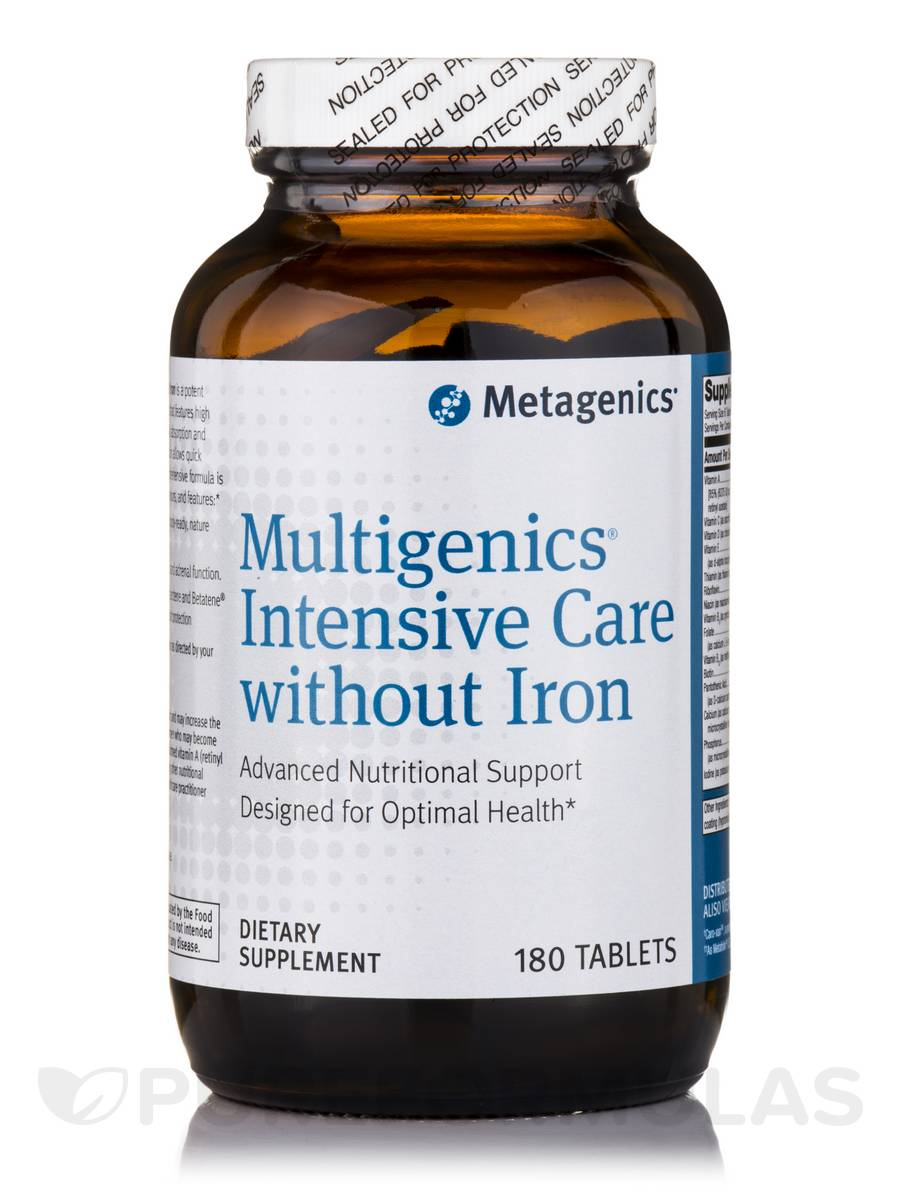 Multigenics® Intensive Care without Iron - 180 Tablets