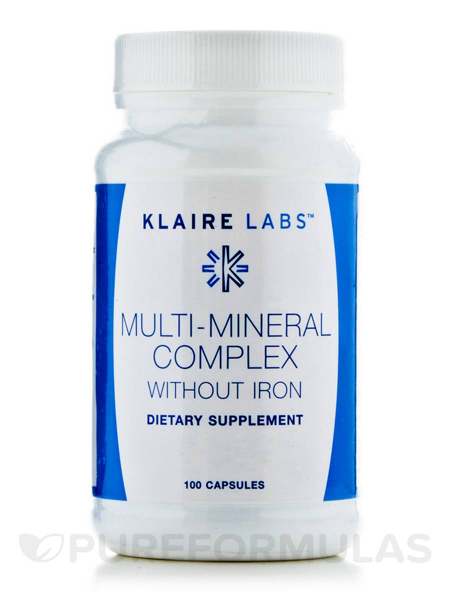 Multi-Mineral Complex w/o Iron - 100 Capsules