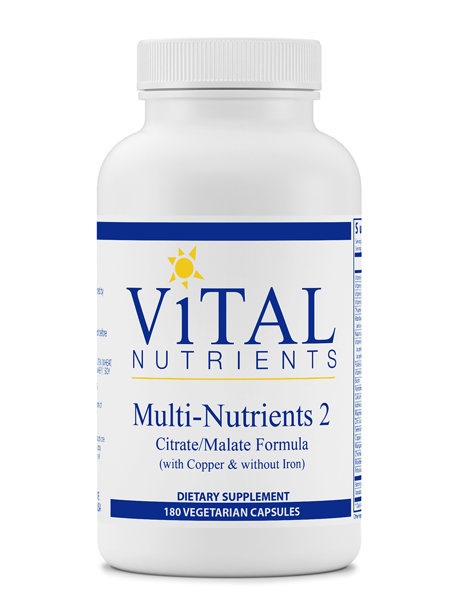 Multi-Nutrients II Citrate / Malate Formula (with Copper and without Iron) - 180 Capsules