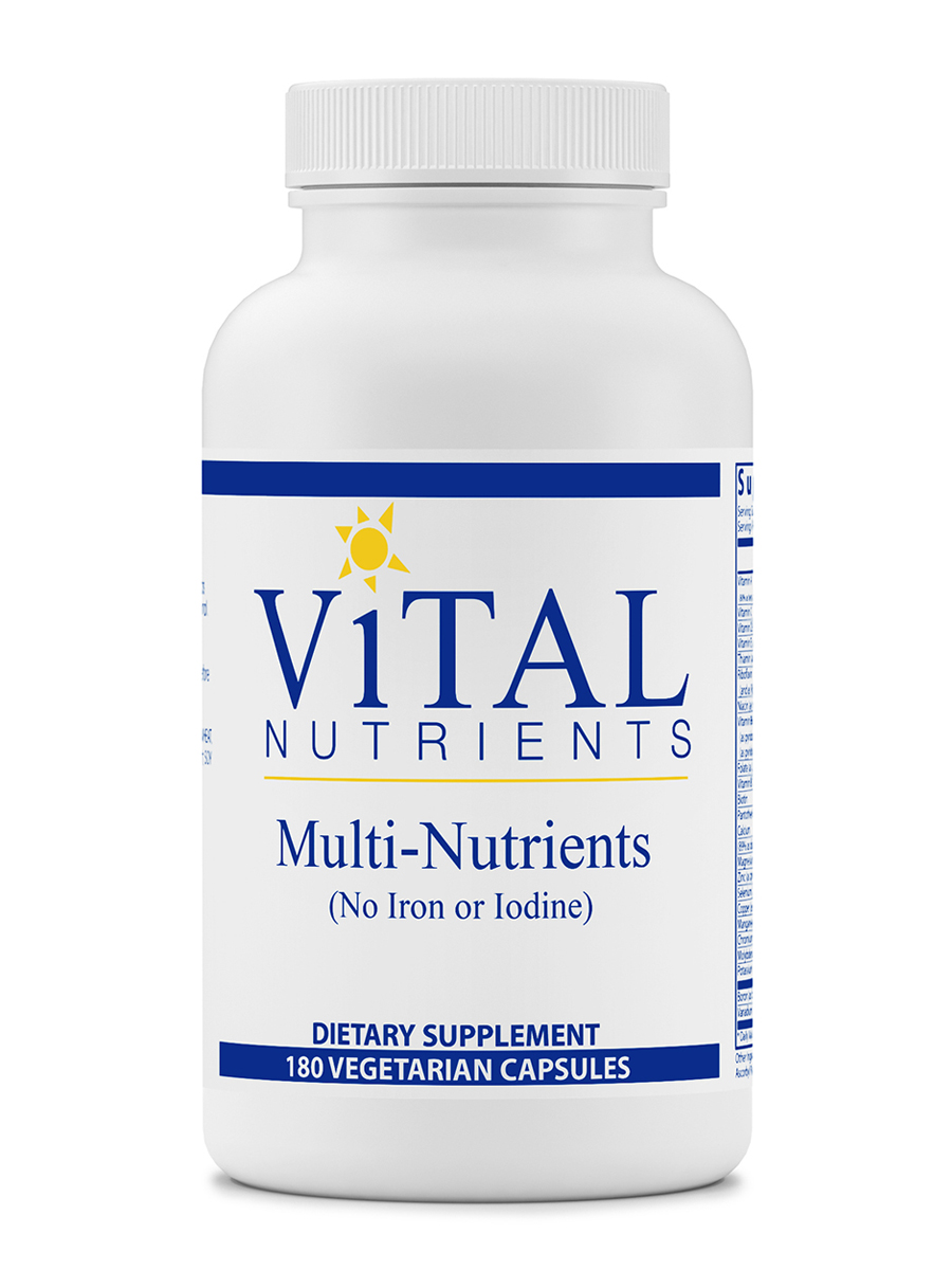 Multi-Nutrients (No Iron or Iodine) - 180 Vegetarian Capsules