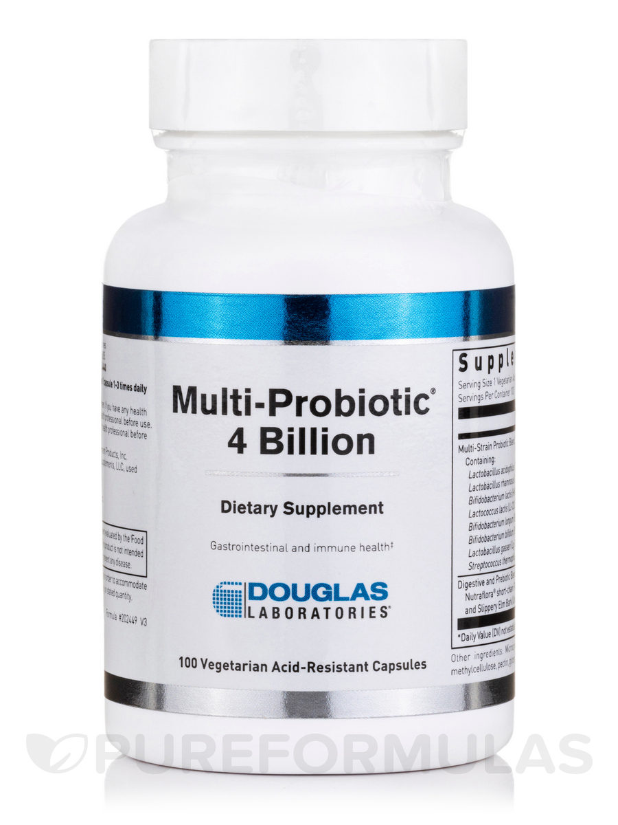 Multi-Probiotic® 4 Billion - 100 Acid-Resistant Vegetarian Capsules