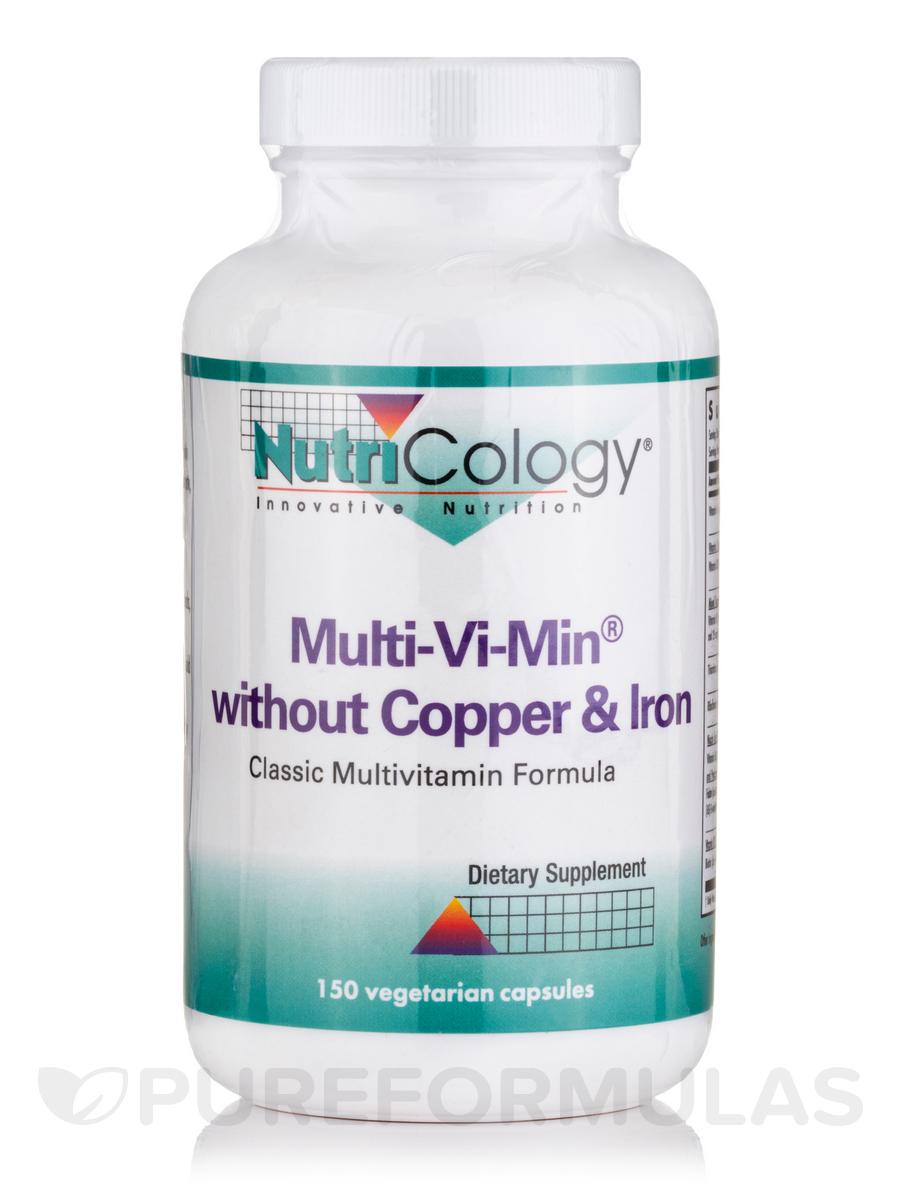Multi-Vi-Min w/o Cu & Fe - 150 Vegetarian Capsules