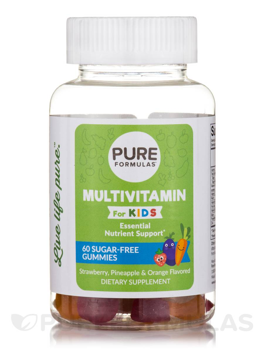 Multivitamin for Kids, Sugar-Free - Strawberry, Pineapple & Orange Flavored  - 60 Gummies
