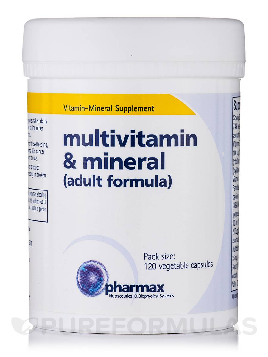 Multivitamin & Mineral (Adult Formula) - 120 Vegetable Capsules