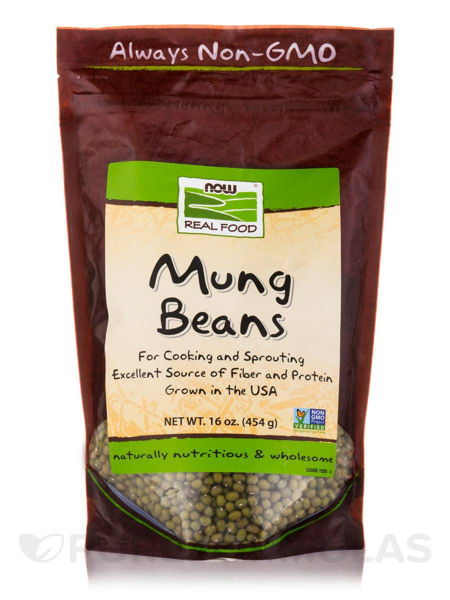 NOW Real Food® - Mung Beans - 16 oz (454 Grams)