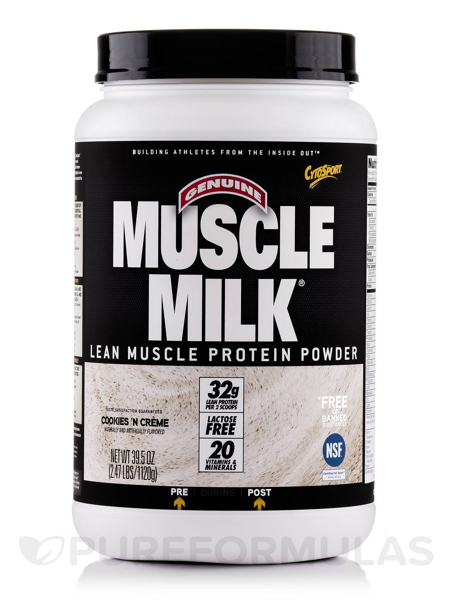Muscle Milk Cookies 'n Creme - 2.47 lbs (39.5 oz / 1120 Grams)