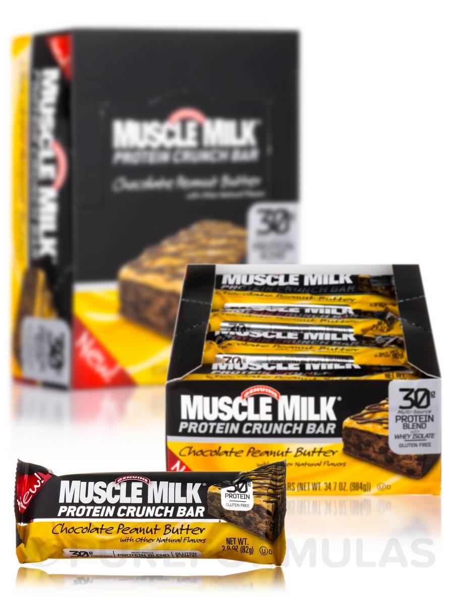 Muscle Milk Crunch Bar Chocolate Peanut Butter - Box of 12 Bars