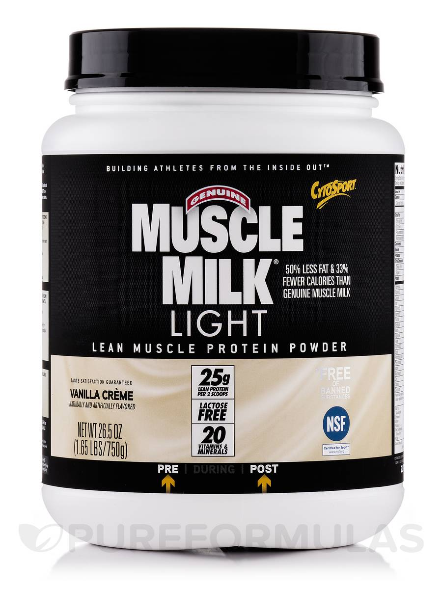 Muscle Milk Light Vanilla Creme - 1.65 lbs (26.5 oz / 750 Grams)