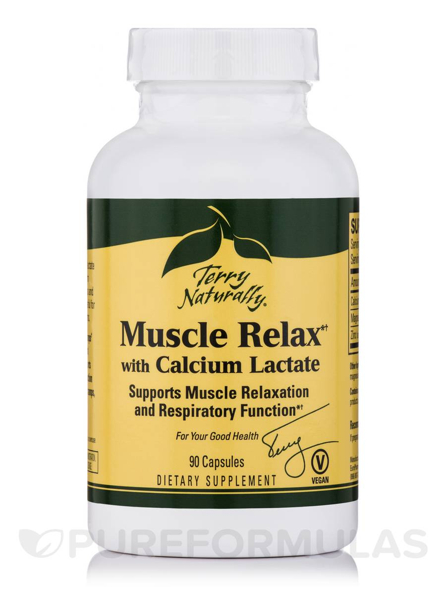 Muscle Relax with Calcium Lactate - 90 Capsules