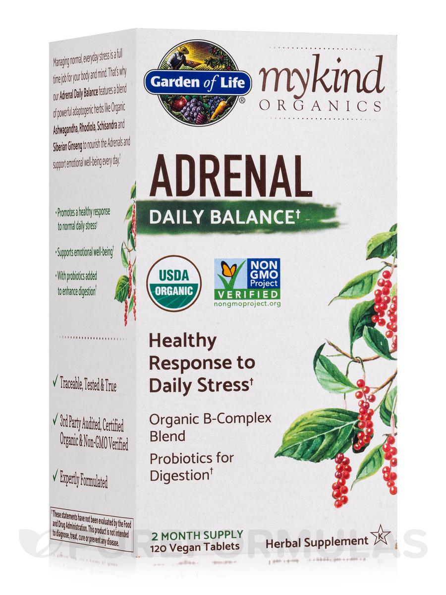 mykind Organics Adrenal Daily Balance - 120 Vegan Tablets