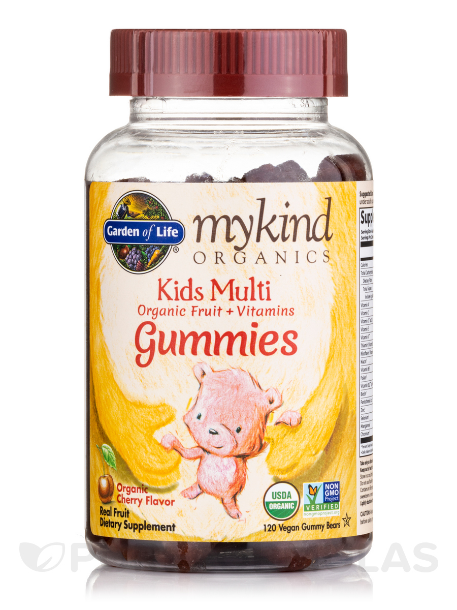 mykind Organics Kids Multi Gummies, Cherry Flavor - 120 Vegan Gummies