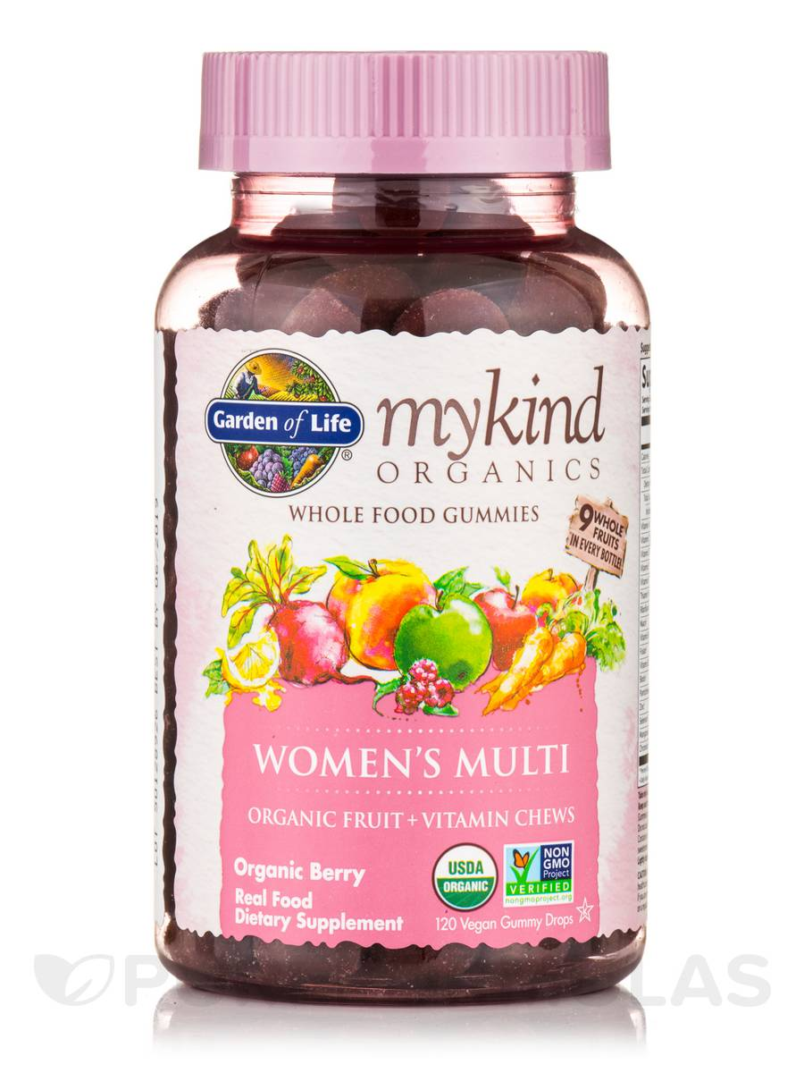 Mykind Organics Women 39 S Gummy Multi Berry Flavor 120 Vegan Gummy Drops
