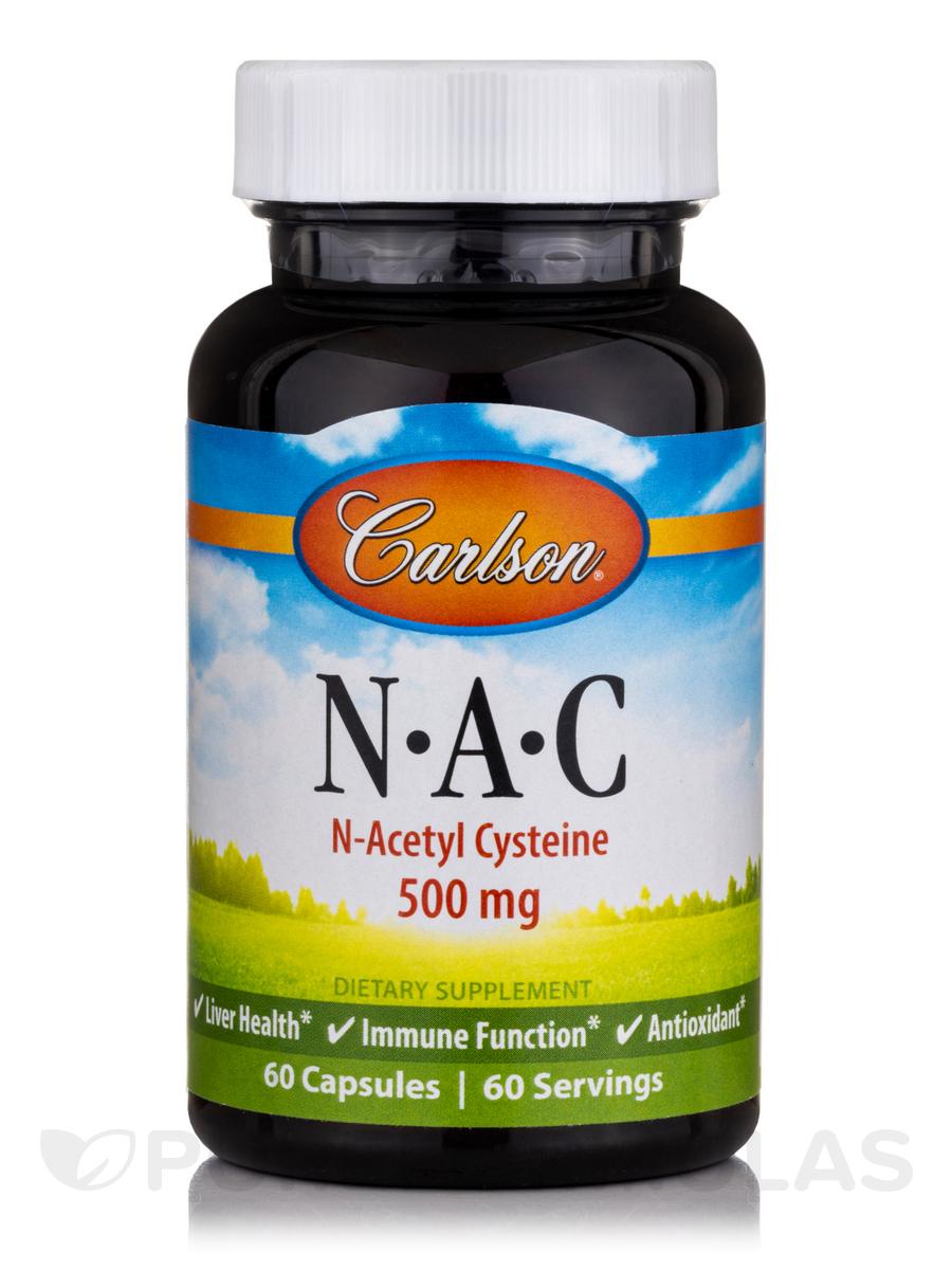 NAC N-Acetyl Cysteine 500 mg - 60 Capsules