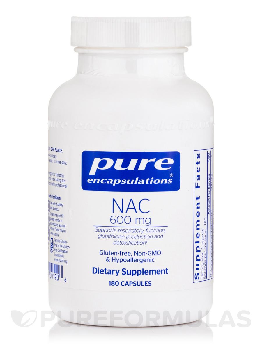 NAC (N-Acetyl-l-Cysteine) 600 mg - 180 Capsules