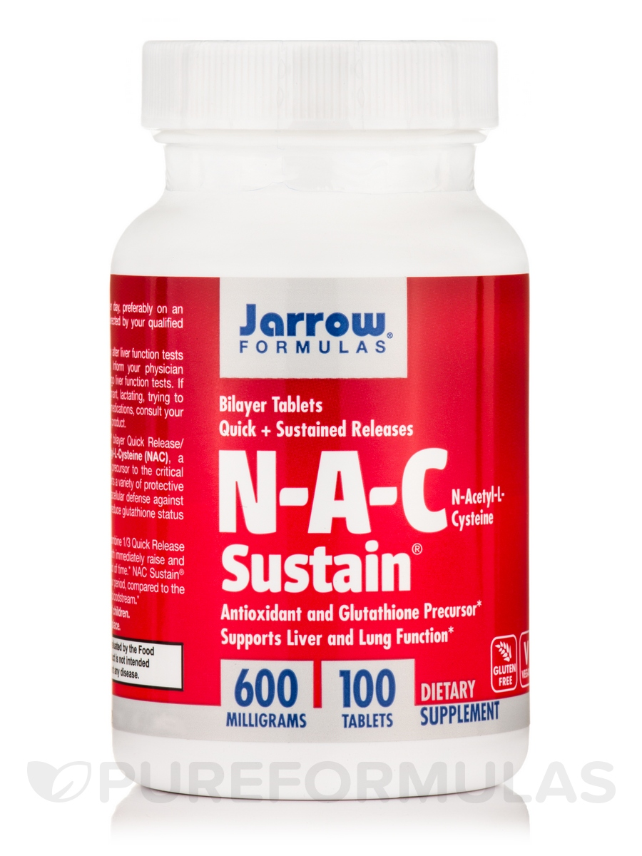 N-A-C Sustain 600 mg - 100 Tablets